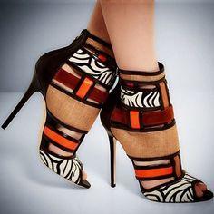 Chaussure en wax pour femme